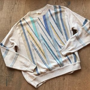 Norm Thompson Italian Striped Sweater Preloved!